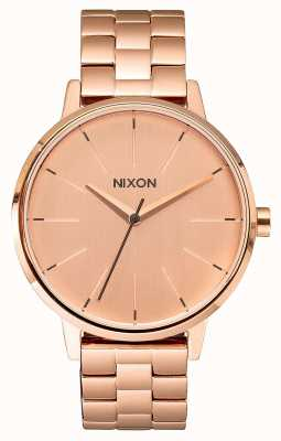 Nixon Kensington | todo ouro rosa | pulseira ip em ouro rosa | mostrador de ouro rosa A099-897-00