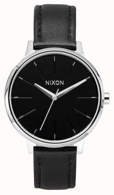 Nixon Couro Kensington   preto   pulseira de couro preta   mostrador preto A108-000-00