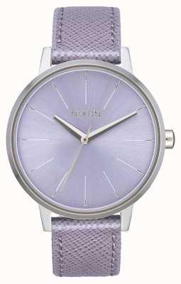 Nixon Couro Kensington | lavanda | pulseira de couro lavanda | dial lavanda A108-236-00