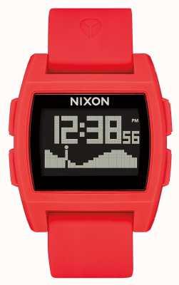 Nixon Maré baixa   vermelho   digital   pulseira de silicone vermelha A1104-200-00