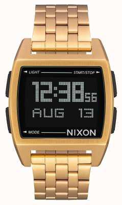 Nixon Base | todo ouro | digital | pulseira de ouro ip aço A1107-502-00