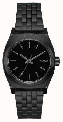 Nixon Caixa de tempo médio   tudo preto   pulseira de aço ip preto   mostrador preto A1130-001-00