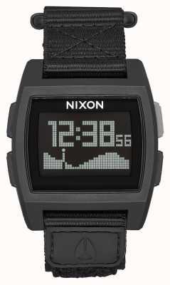 Nixon Náilon base maré | tudo preto | digital | pulseira de náilon preta A1169-001-00