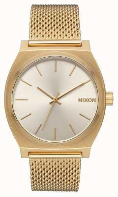 Nixon Caixa de tempo milanês   todo ouro / creme   malha de aço ip ouro   mostrador creme A1187-2807-00
