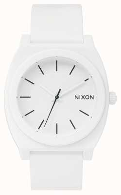 Nixon Caixa de tempo p   branco fosco   pulseira de silicone branca   mostrador branco A119-1030-00