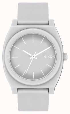 Nixon Caixa de tempo p   cinza frio fosco   pulseira de silicone cinza   mostrador cinza A119-3012-00