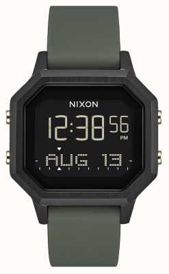 Nixon Siren ss | preto / fadiga | digital | silicone preto | A1211-178-00