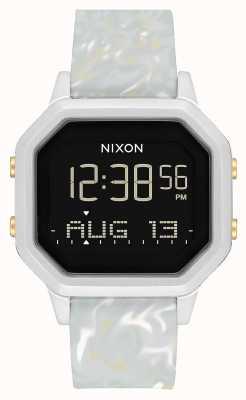 Nixon Siren ss | mármore prata / cinza | digital | pulseira de silicone cor de mármore A1211-3413-00