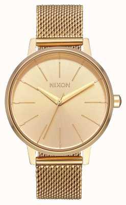 Nixon Kensington milanese   todo ouro   malha de aço ip ouro   mostrador de ouro A1229-502-00