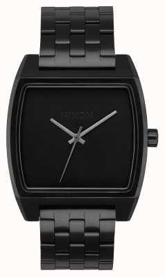Nixon Rastreador de tempo | tudo preto | pulseira de aço ip preto | mostrador preto A1245-001-00