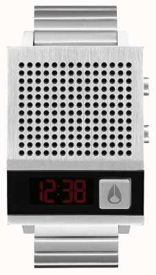 Nixon Dork também | preto | digital | pulseira de aço inoxidável | falando A1266-000-00