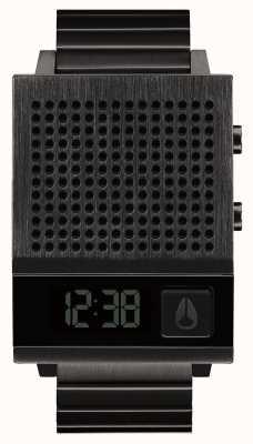 Nixon Dork também | tudo preto | digital | pulseira de aço ip preto | falando A1266-001-00