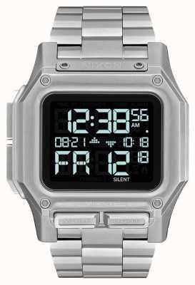 Nixon Regulus ss | preto | digital | pulseira de aço inoxidável | A1268-000-00