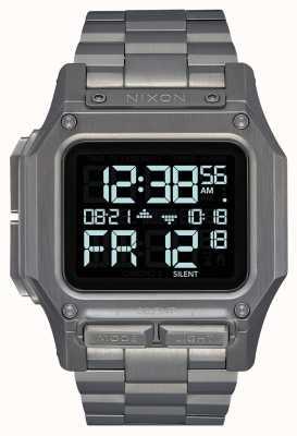 Nixon Regulus ss | gunmetal | digital | pulseira de aço ip metal A1268-131-00