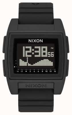 Nixon Base maré pro | preto | digital | pulseira de silicone preta | A1307-000-00