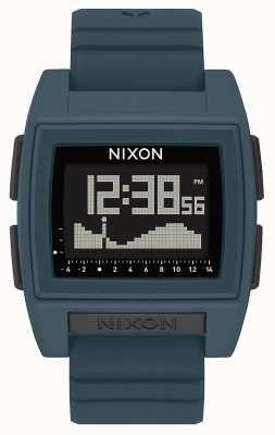 Nixon Base maré pro | ardósia escura | digital | pulseira de silicone cor de ardósia A1307-2889-00