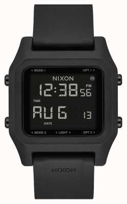 Nixon Grampo | preto | digital | pulseira de silicone preta A1309-000-00