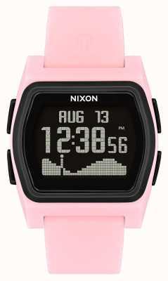 Nixon Rival | rosa / preto | digital | pulseira de silicone rosa A1236-2531-00