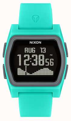 Nixon Rival | turquesa | digital | pulseira de silicone turquesa A1236-309-00