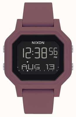Nixon Siren   Borgonha   digital   pulseira de silicone cor de vinho A1311-234-00