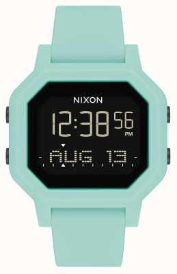 Nixon Siren | aqua | digital | pulseira de silicone turquesa A1311-2930-00
