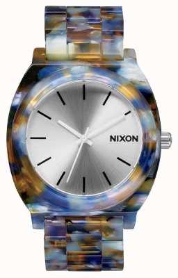 Nixon Acetato do contador do tempo   acetato de aquarela   mostrador prateado A327-1116-00