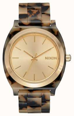 Nixon Acetato do contador do tempo | tartaruga cremosa | mostrador creme A327-3346-00