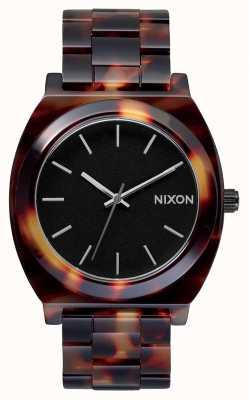 Nixon Acetato do contador do tempo | tartaruga | mostrador preto A327-646-00