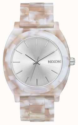 Nixon Acetato do contador do tempo | rosa / prata | mostrador prateado A327-718-00