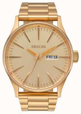 Nixon Sentry ss | todo ouro | pulseira de ouro ip aço | mostrador de ouro A356-502-00