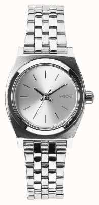 Nixon Pequeno contador de tempo   toda prata   pulseira de aço inoxidável mostrador prateado A399-1920-00