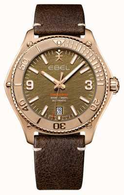 EBEL Edição limitada de bronze descoberta masculina | pulseira de couro de bezerro marrom | 1216471