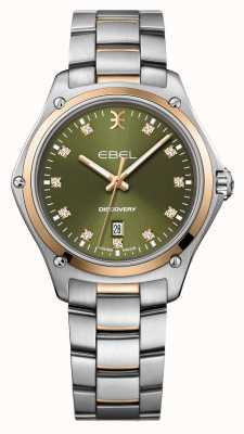 EBEL Descoberta das mulheres | pulseira de prata em aço inoxidável | mostrador verde | 1216424