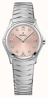 EBEL Clássico do esporte feminino | pulseira de aço inoxidável | mostrador galvânico rosa 1216444A