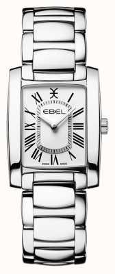 EBEL Brasilia feminina | pulseira de aço inoxidável | mostrador branco 1216461
