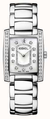 EBEL Brasilia feminina | pulseira de aço inoxidável | madre ou pérola dial 1216463