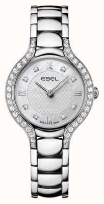 EBEL Beluga das mulheres | pulseira de aço inoxidável | madrepérola dial | conjunto de diamantes 1216465