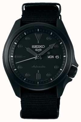 Seiko 5 esportes | caixa chapeada ip preta | pulseira de nato preta SRPE69K1