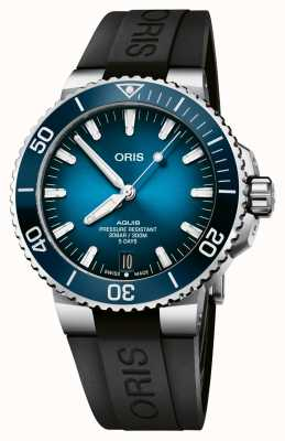 ORIS Data Aquis | calibre 400 120 horas | pulseira de silicone | mostrador azul 01 400 7763 4135-07 4 24 74EB