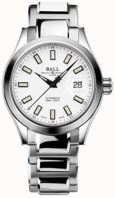 Ball Watch Company Marvelight do engenheiro iii | aço inoxidável | mostrador branco NM2026C-S10J-WH