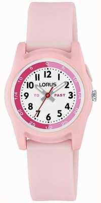 Lorus kids time teacher com pulseira de silicone rosa R2357NX9