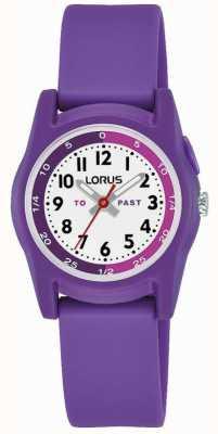 Lorus kids time teacher com pulseira de silicone roxa R2359NX9