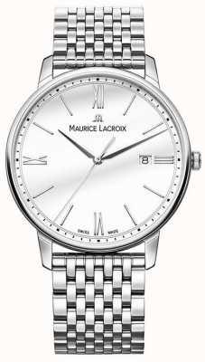 Maurice Lacroix Eliros masculino | pulseira de aço inoxidável | mostrador prateado EL1118-SS002-113-2