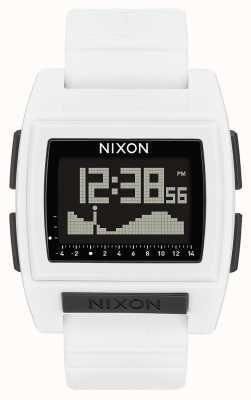 Nixon Base maré pro | branco | digital | pulseira de silicone branca A1212-100-00