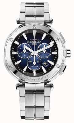 Michel Herbelin Cronógrafo newport masculino | pulseira de aço inoxidável | 37688/B35