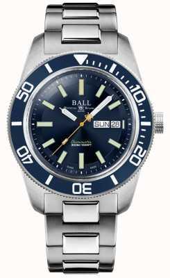 Ball Watch Company Engenheiro mestre ii | herança skindiver | mostrador azul | pulseira de aço inoxidável DM3308A-S1C-BE