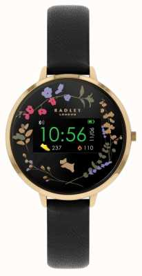 Radley Rastreador de atividades da série 03 | pulseira de couro preta RYS03-2010