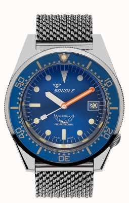 Squale Malha do oceano 1521 | mostrador azul | pulseira de malha de aço inoxidável 1521OCN-CINSS20