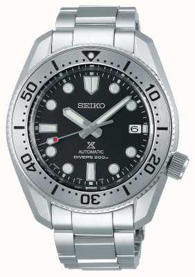 Seiko Prospex 1968 reinterpretação | pulseira de aço inoxidável | mostrador preto | vidro de safira SPB185J1