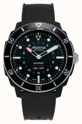 Alpina Seastrong | relógio inteligente horológico | pulseira de silicone preta AL-282LBB4V6
